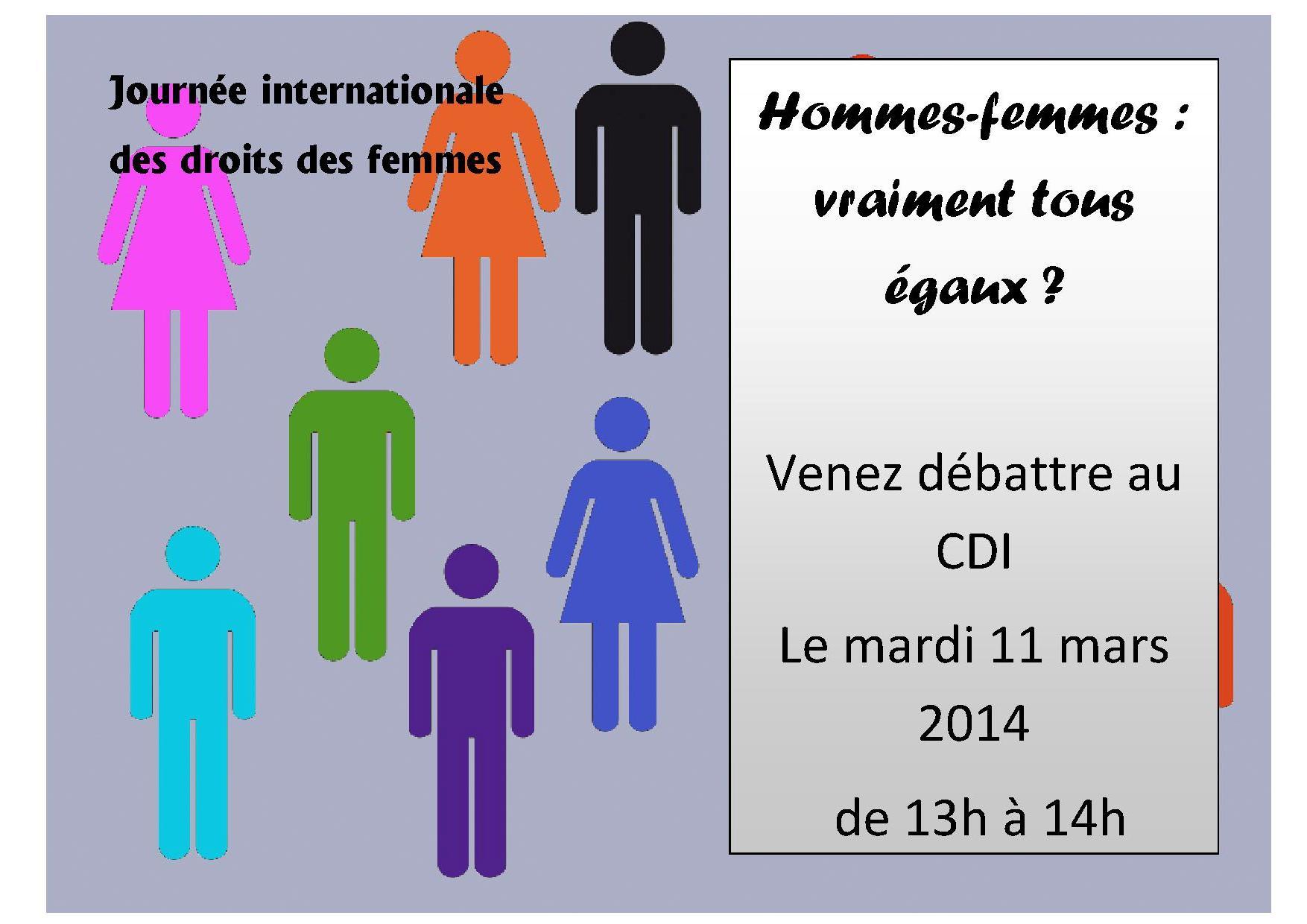 debat journee de la femme